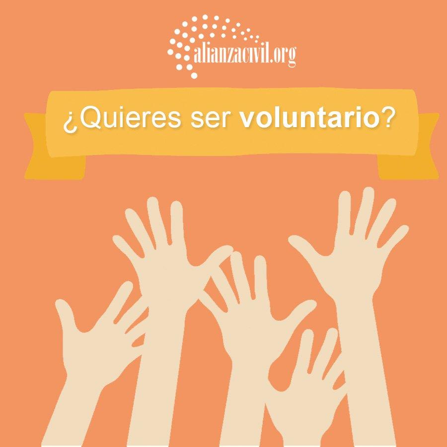 ¿Quieres ser parte de nuestro gran equipo de voluntarios?